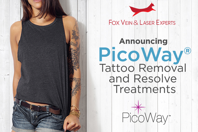 Fox Vein and Laser Experts Announces Addition of PicoWay® Tattoo Removal and Resolve Treatments